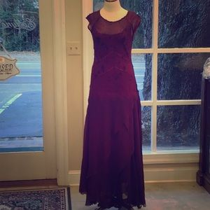 Long Gown with Cap Sleeves